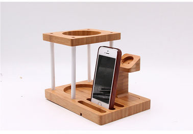 چین Multi Function Bamboo Wood Cellphone Stand، Tablet / Watch / دارندگان بلندگو Echo آمازون کارخانه